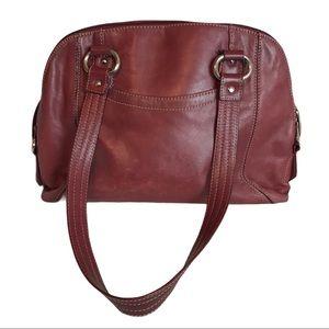 Tiananello Burnt Red Leather Handbag Shoulder Bag